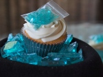 Breaking Bad Inspired cupcakes with 'Blue Meth'.